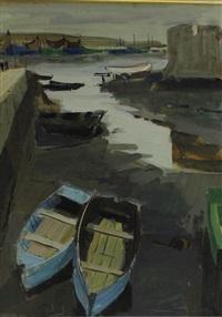 barques au sec à concarneau by jean le merdy