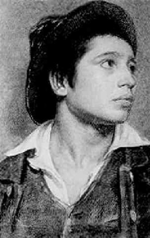 portrait of a young man by frank hector tompkins
