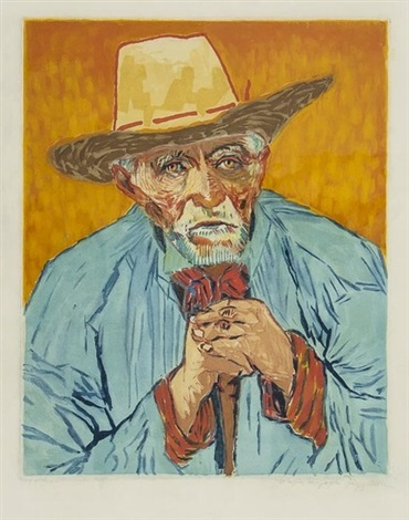 le paysan by jacques villon by vincent van gogh
