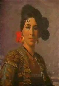 portrait d'une espagnole by andré leroux