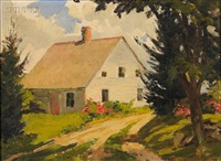 the hatt farm house at salem connecticut (+ captain jim's meadow; 2 works) by james goodwin mcmanus