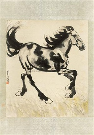 奔马图 the horse by xu beihong
