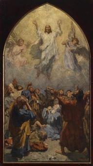 himmelfahrt christi by johann victor kramer