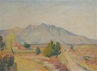 paesaggio con montagne by paolo (stamaty) rodocanachi