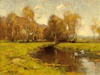brook in landscape by theo goedvriend