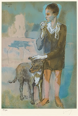 兒童與狗 child and dog by pablo picasso