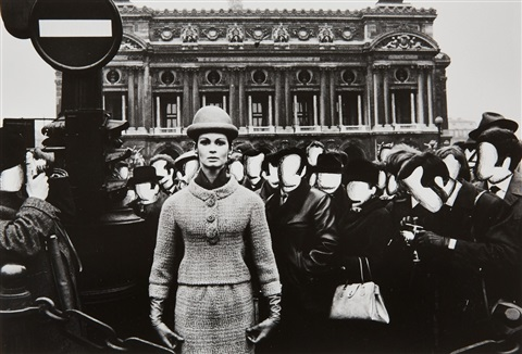 opéra visages blancs paris vogue by william klein