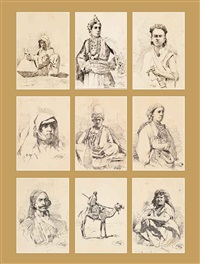 arab studies (set of 9) by salvatore valeri
