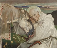 st. columba bidding farewell to the old horse by john duncan