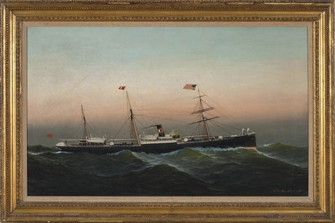 the steamship somerset by antonio jacobsen