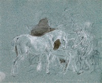 im pferdestall by johann fischbach