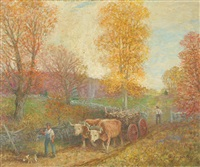 autumn in connecticut by winfield scott clime