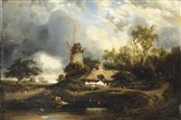 paysage au moulin by jules dupré
