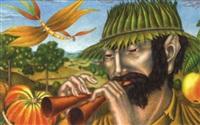 flötenspieler by anton krejcar