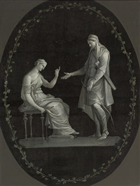 apollo and diana, in a feigned oval, en grisaille by italian school-northern (19)