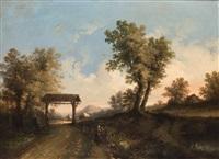 pareja de paisajes (2 works) by flemish school (19)
