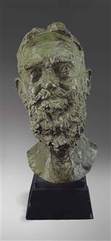 second portrait of george bernard shaw (head) by sir jacob epstein