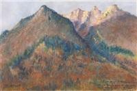 paysage de montagne by fernand allard l'olivier
