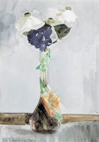 Stillleben Mit Blumen In Vase By Albert Chavaz