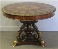 Attractive Bronze Mounted U0026 Inlaid Center Table