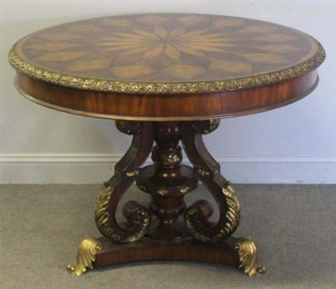 Bronze Mounted Inlaid Center Table By Maitland Smith On Artnet