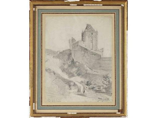 chateau de dieppe by johan barthold jongkind