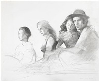 refugees study no 2 by bo bartlett