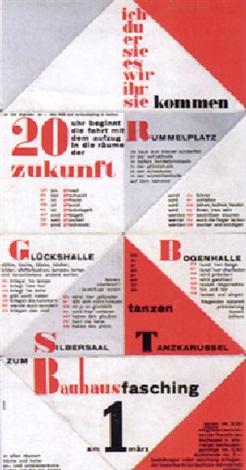 Einladung Zum U0027bauhaus Faschingu0027 Am 1.märz 1930 By Franz Ehrlich