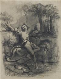 etude pour le sculpteur (le poète) (study) by gustave courbet