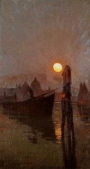 tramonto di luna by ettore burzi