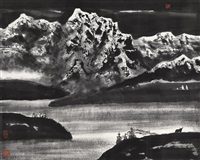 湖山 (lake and mountain) by li xiaoke