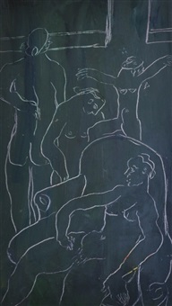 nudes in an interior by joy hester