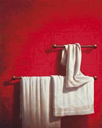 bath towel and rail by guy gladwell