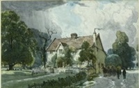 old english farm by albert henry fullwood