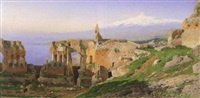 ruins of taormina by otto geleng