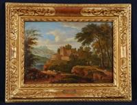 paysage vallonné avec la fuite en egypte by mathys schoevaerdts