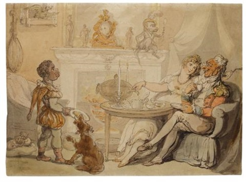 the tea party by thomas rowlandson