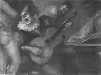 clown performer serenading backstage by william c. mcnulty