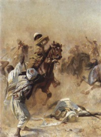 the 21st (empress of india's) lancers at omdurman by william barnes wollen
