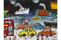 traffic by the docks by simeon stafford