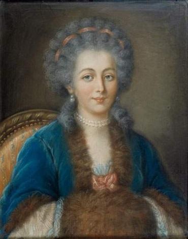 portrait de madame de serre, née marie-joseph aurès by joseph boze