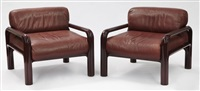 lounge chairs (pair) by gae aulenti