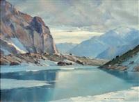 matinée au lac de lauvitel by charles henry contencin