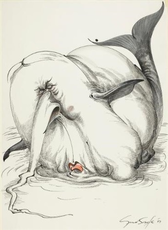the beached white whale heath blubberatus by gerald scarfe