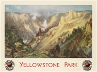 yellowstone park/northern pacific railway by thomas moran