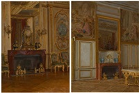 intérieur de fontainebleau (+ another; 2 works) by walter gay