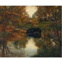 autumn, new york by mikhail rundaltsov