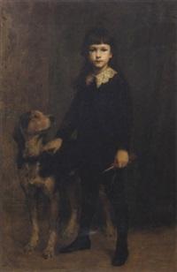 portrait de jacques baudry, fils de paul baudry by charles auguste mengin