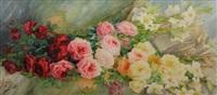 jetée de roses by andhree ponsard