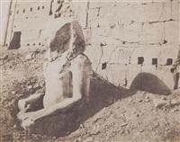 troisième pylône - colosse de spath calcaire en d., pl.65 by félix teynard